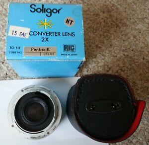 Soligor Pentax K Mount 2x Auto Teleconverter