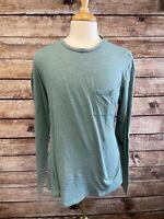 Marine Layer Long Sleeve T Shirt Size XL Green Cotton Blend