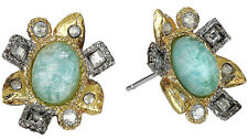 NWT Alexis Bittar Miss Havisham Crystal Amazonite Stud Earrings