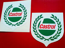 CASTROL Garland Classic Vintage  Retro Car Motorcycle Stickers Decals 80mm