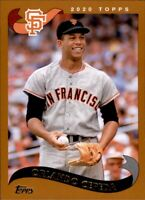 2020 Topps Archives ORLANDO CEPEDA 2002 Style Base Card Giants #212