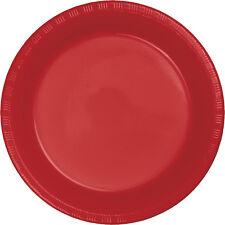 """20 ct. 7"""" Plastic Plates Heavy Duty Solid Colors Disposable Appetizer Dessert"""