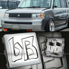 For 03 04 05 06 07 Scion xB Jdm bB Hood Grille Chrome Finish Logo Badge Emblem (Fits: Scion xB)