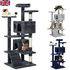 More details for large multilevel cat tree tower cat scratching post climbing activity centre new