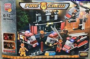 Block Tech Fire Crew Bricks Building Construction 557 Pcs Blocks Kids Boys Gift