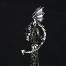 Lady Retro Vintage Punk Evil Dragon Fly Clip Metal Bite Ear Cuff Wrap Earring MC