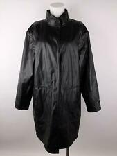 Koos Of Course Women L Black Reversible Suede Faux Leather Floral Trench Jacket