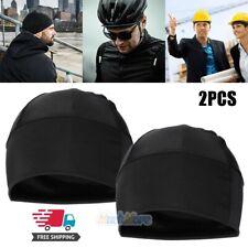 2x Spandex Dome Cap Helmet Liner Sports FootBall Biker Beanie Hat Head Wrap