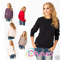 Classic Casual Womens Jumper Long Sleeve Sweater Crew Neck Tunic Size 8-12 FA346