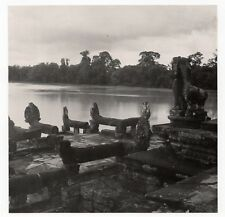 PHOTO ANCIENNE ANGKOR VAT WAT Temple Asia Cambodia Ruins Cambodge 1960 LAC