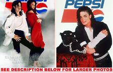MICHAEL JACKSON 1988 PEPSI COMMERCIAL 2xRARE8x10 PHOTOS