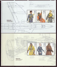 GREAT BRITAIN 2008 RAF UNIFORMS TWO PANES UNMOUNTED MINT
