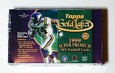 1999 Topps Gold Label NFL Football Hobby Box Sports Cards LAST ONE