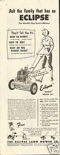 1954 Print Ad of Eclipse Lawn Mower Co Rocket Deluxe