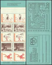 Sweden 1969 Fairy Tales/Horse/Cat/Geese/Stories/Books/Animation 10v bklt n41084