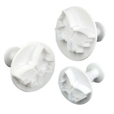 3pcs Butterfly Plunger Cutter Mold Sugarcraft Fondant Cake Decorating DIY Tool