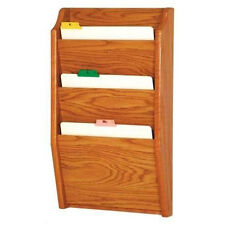 Wooden Mallet Ch 14-3 Medium Oak 3 Pocket Chart Holder
