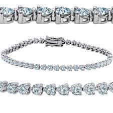 5.06ct Angelic Diamond Tennis Bracelet 14k white gold