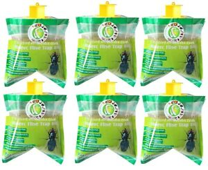 6x Fly Trap Bag Catcher Kills 20,000 Flies Insects Pest Control Killer