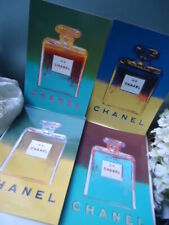 CHANEL No5 1997 ANDY WARHOL Complete UK Set 4 XL High Gloss Postcards +Wipes A1