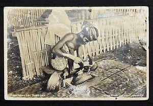 INDONESIA 01-SOERABAJA (SURAVAYA) -Koperbewerker Real Photo (RPPC)