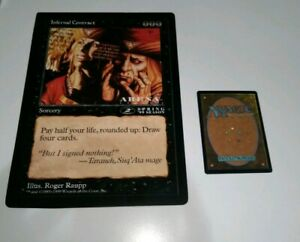 MAGIC~THE GATHERING~INFERNAL CONTRACT~2PLACE~ARENA LEAGUE~OVERSIZE~1999~LP
