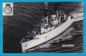 Original Real Photo Royal Navy Frigate  H.M.S.  BRILLIANT