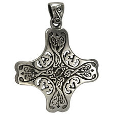 Sterling Silver Celtic Knot Cross of the Holy Spirit - Irish Knotwork Jewelry