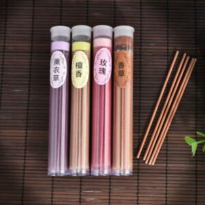 50 Sticks Incense Natural Aroma Lavender Rose Vanilla Sandalwood Air Freshener