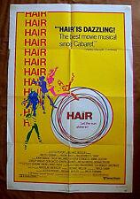 HAIR 1979 Original 1-Sheet Poster Review Style B4 Milos Forman Treat Williams