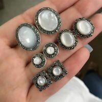 frauen antik silber schmuck ohrringe setzen ohr - hengst opal stein crystal
