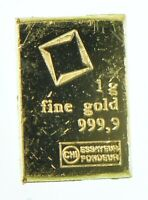 1 Gram Fine Gold Bar - Assayed .9999 Pure Fine Bullion - Random Mint/Make