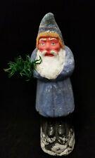 """Belsnickel 1920's Vintage German Christmas Santa Saint Nickolas Blue 9.5"""""""