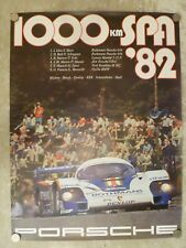1982 Porsche 956 1000 KM Spa Victory Showroom Advertising Sales Poster RARE!!