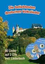 80 Deutsche Volkslieder mit 2 CDs. Songbook, gitarre, akkordeon,  groß DIN A4
