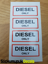 4 x DIESEL ONLY Stickers Labels Petrol Gasoline For Classic or Race Car Camper