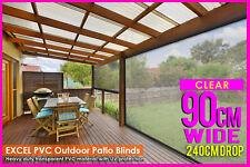 90 X 240cm PVC Blind Clear Patio Bistro Heavy Duty Outdoor Veranda Cafe Shade