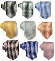 Mens Premium Quality Knit Knitted Houndstooth Tie Necktie UK Wedding Event