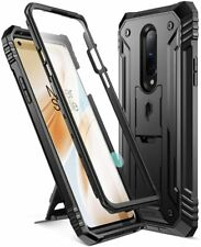 OnePlus 8 Case [w/Kick-stand] Poetic Dual Layer Shockproof Cover Black