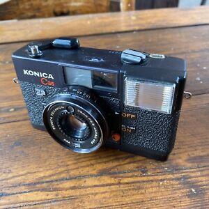 Konica C35 EF 35mm Point & Shoot Film Camera - 38mm F/2.8 Lens Very Good Cond