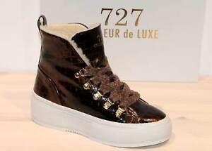 CYCLEUR DE LUXE Hi Top Leder-Sneaker -HEIDI Brown- Made in Portugal -Neu! Gr. 38