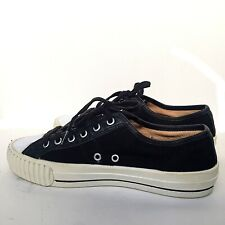 PF Flyers Men's Low Top Fashion Sneakers Size 8 Black Sample Made In USA