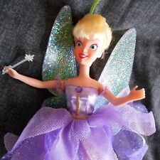 disney TINKERBELL doll PURPLE dress FAIRY clothes barbie WAND PETER PAN SHOES