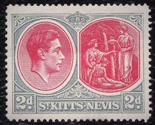 St Kitts & Nevis 1938 2d Gray scarlet  sg 71 Mint Hinged stamp
