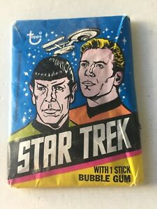 1976 Topps Star Trek trading cards unopened wax pack