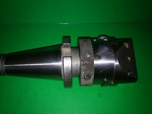 """MADE IN FRANCE ENCO 3/4"""" AUTOMATIC BORING & FACING HEAD & CAT 50 TOOL HOLDER"""