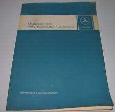 Werkstatthandbuch Mercedes /8 Strich 8 220 / 280 / 280 C W 114 / W 115 Jahr 1973