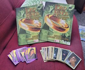 Lord of the Rings, Fellowship of the Rings Stickers & Two Unused Albums, Merlin