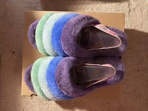 UGG M FLUFFY YEAH SLIDE M/ 1112686 Size 10 Purple