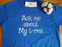 Ask me about myT-Rex - reveal a T-Rex on inside very cute funny kids tee gift